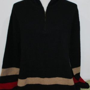 RALPH LAUREN 1/4 zip hooded sweater size M